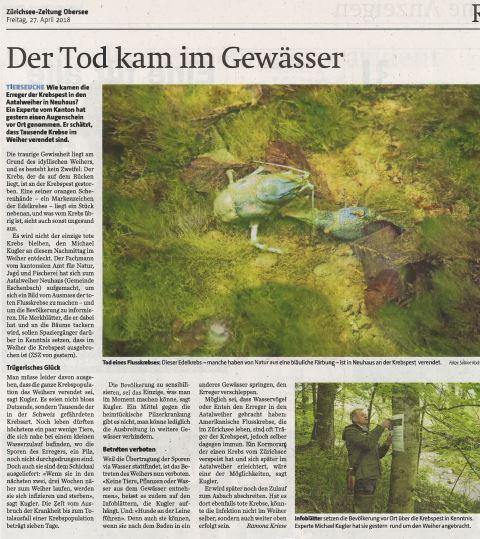 Zürichsee-Zeitung 27. April 2018